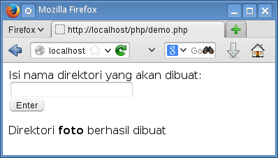 membuat direktori dengan php