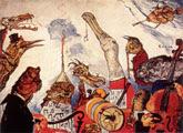James Ensor (31 años) - Los músicos aterrados (The frightful musicians, 1891)