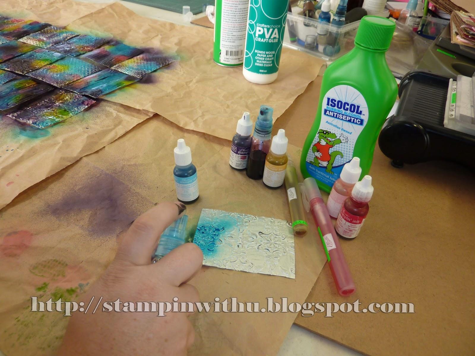 Spritzing Colour on foil