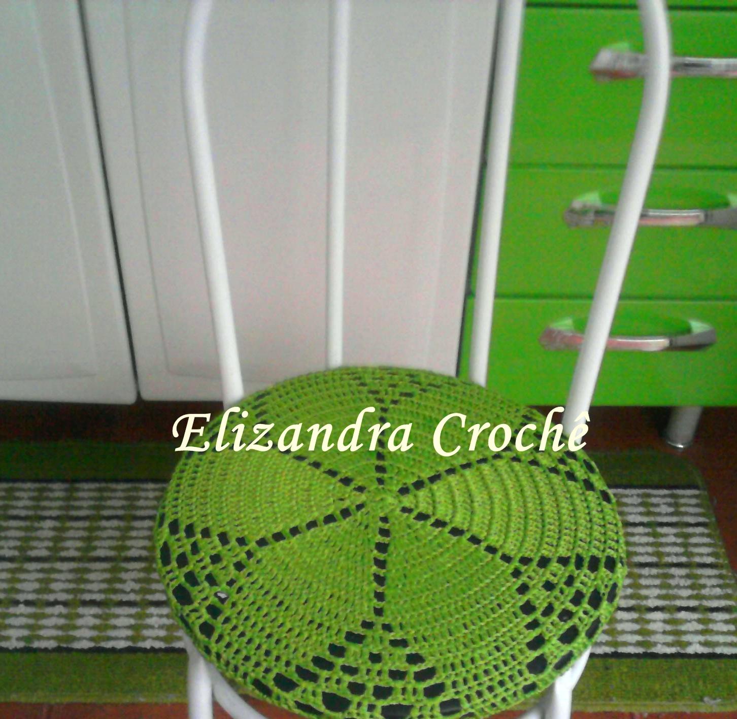 Elizandra Crochê: Capa para cadeira #448320 1452x1416