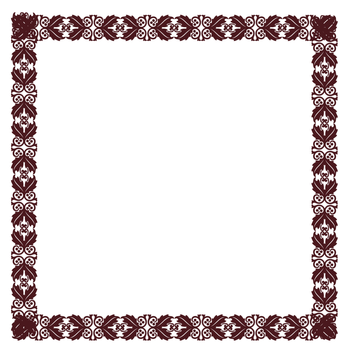 .Com Free Elements: Free Burgundy Holly PNG Digi Scrapbook Frame