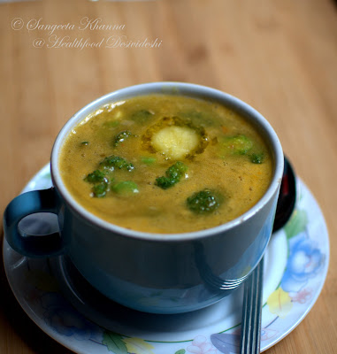 red lentil and broccoli soup   soup dinners..