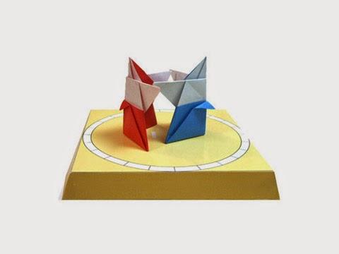 Hướng dẫn cách gấp võ sĩ sumo bằng giấy đơn giản - Xếp hình Origami với Video clip - How to make a sumo