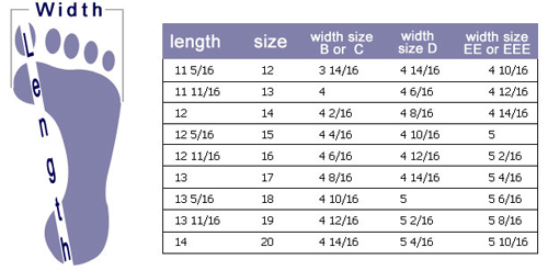 Shoes: shoes size chart