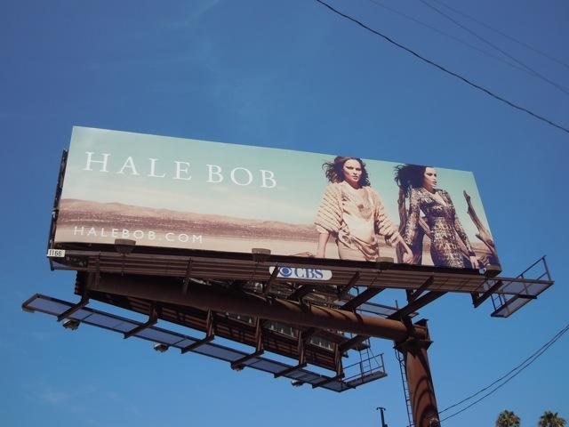 Hale Bob desert fashion billboard