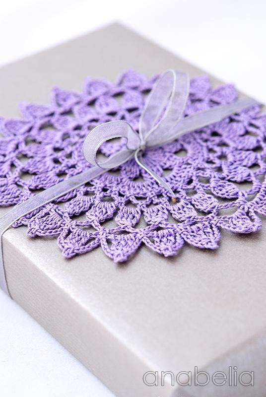 Crochet doily  3 Lavender by Anabelia