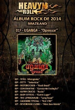 """""""Opressor"""" eleito """"Melhor Album de Rock de 2014"""""""