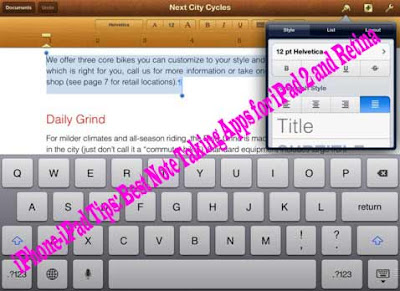 iPhone-iPad Tips: Best Note Taking Apps for iPad 2 and Retina