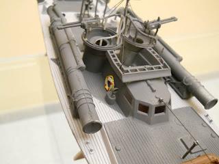 maqueta estática de lancha torpedera inglesa