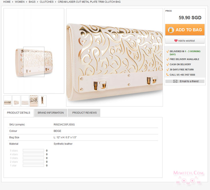 http://www.zalora.sg/CREAM-LASER-CUT-METAL-PLATE-TRIM-CLUTCH-BAG-126664.html