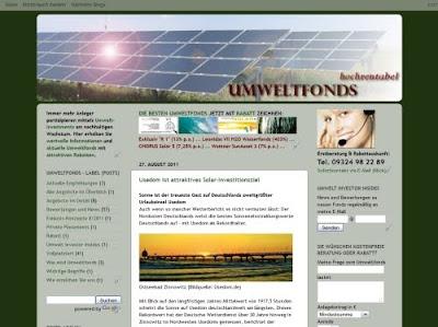 Umweltfonds hochrentabel Blog