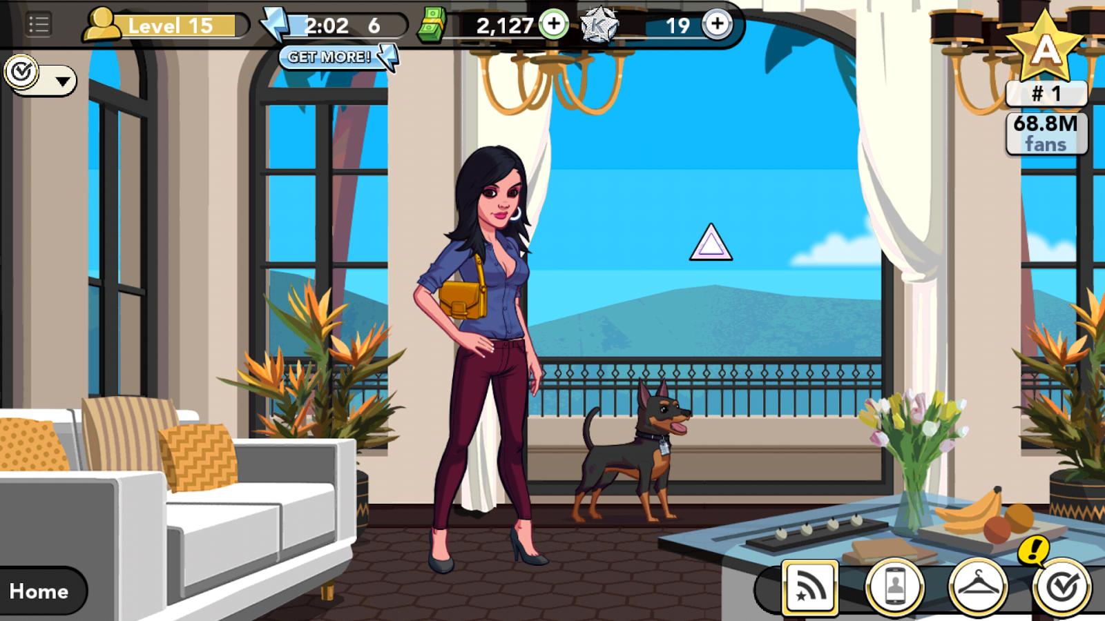 Kim Kardashian: Hollywood game - Miami beach house with Miniature Pinscher pet