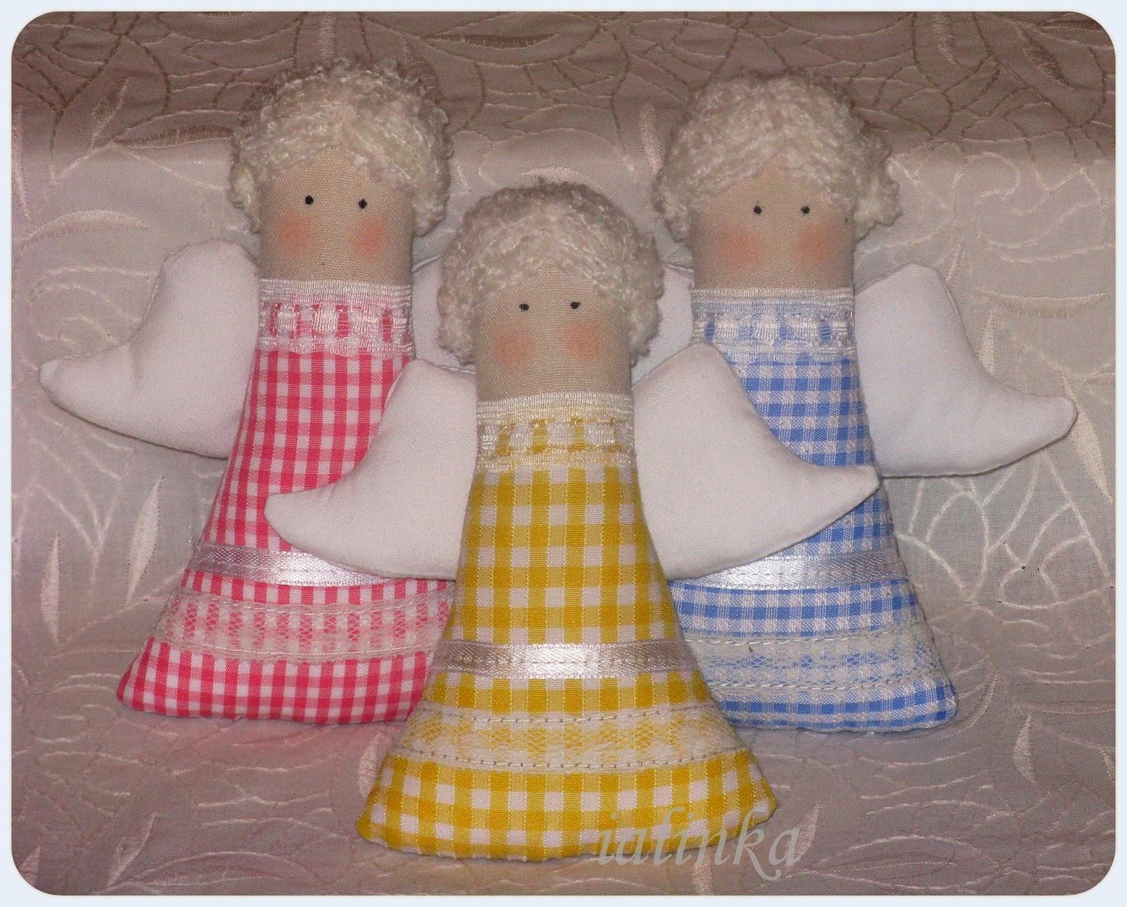 ангелочки  тильда  hand  made игрушки  на  елку  своими  руками