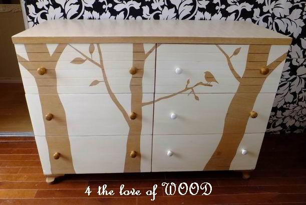 diy baby furniture. dresser knobs vary to match background diy baby furniture