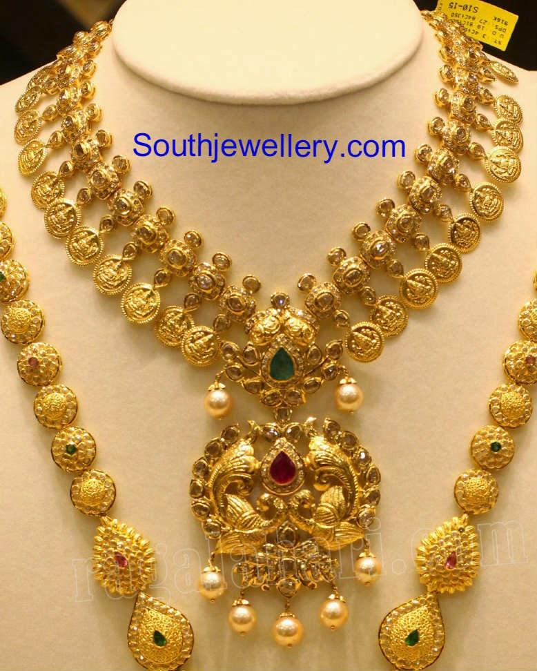 uncut lakshmi kasulaperu necklace