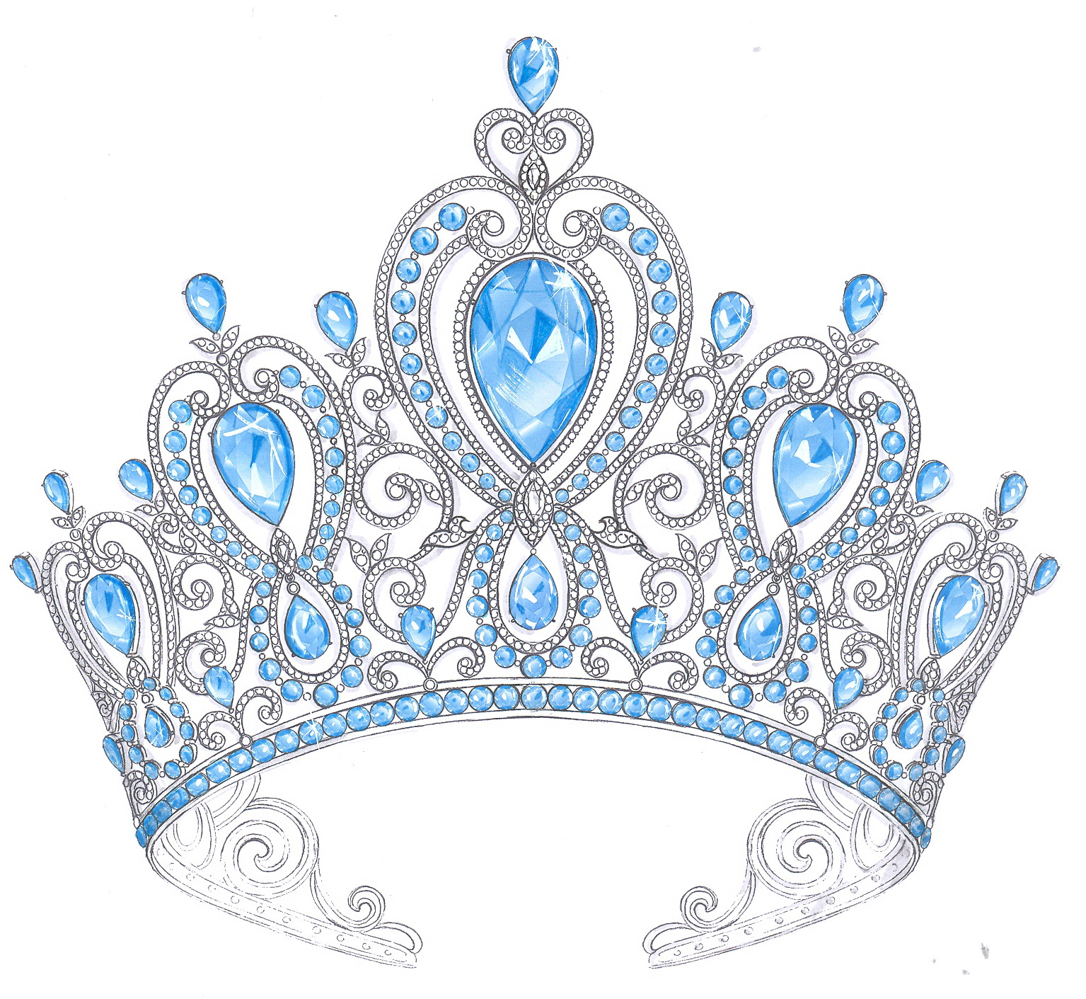 how to draw a realistic crown