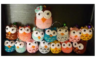 crochet amigurumi cute owl keychian gift lovely pattern