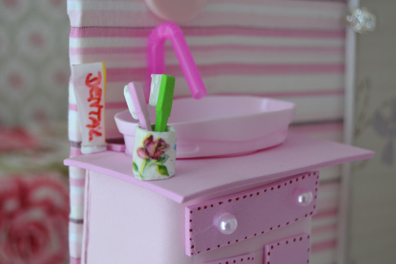 I S Como fazer um lavatorio pia para o banheiro da Barbie -> Como Fazer Pia De Banheiro