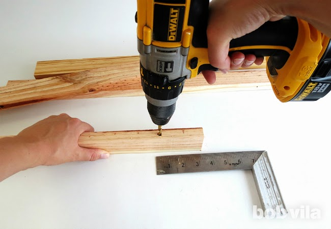 cut your wood into a total of eight equal pieces, each two feet long