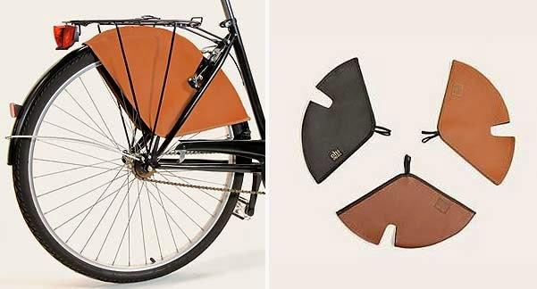 Guardafaldas de colores, para bicicletas de mujer. Complementos originales para regalar al ciclista urbano.
