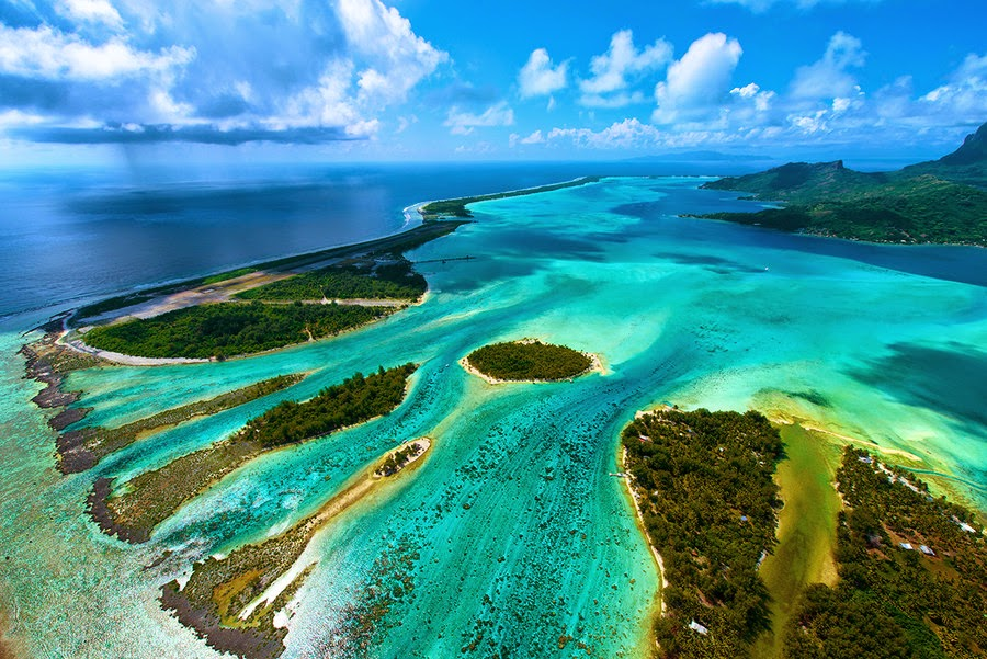 Aerial of Bora Bora By David Kosmos Smith