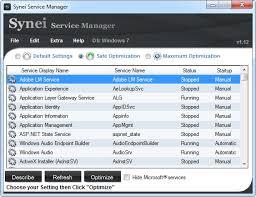 برنامج تسريع الويندوز download synei service manager