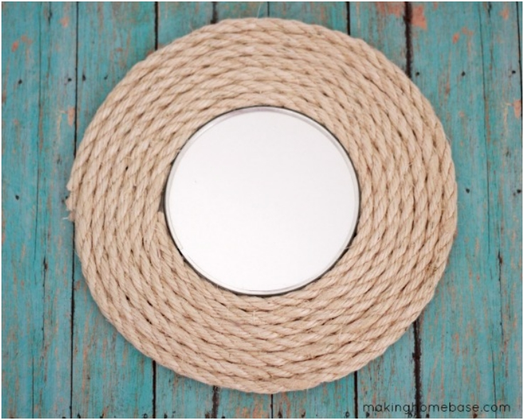 10 diy rustic home decorations with ropes do it yourself for Rope projects