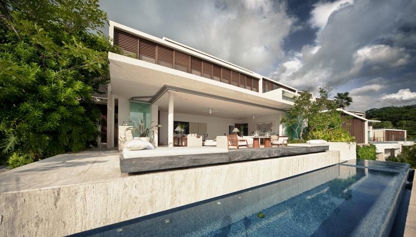 Large modern terrace