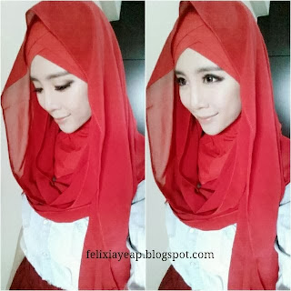 hijabista, macam cantik jew, red, hot, wish