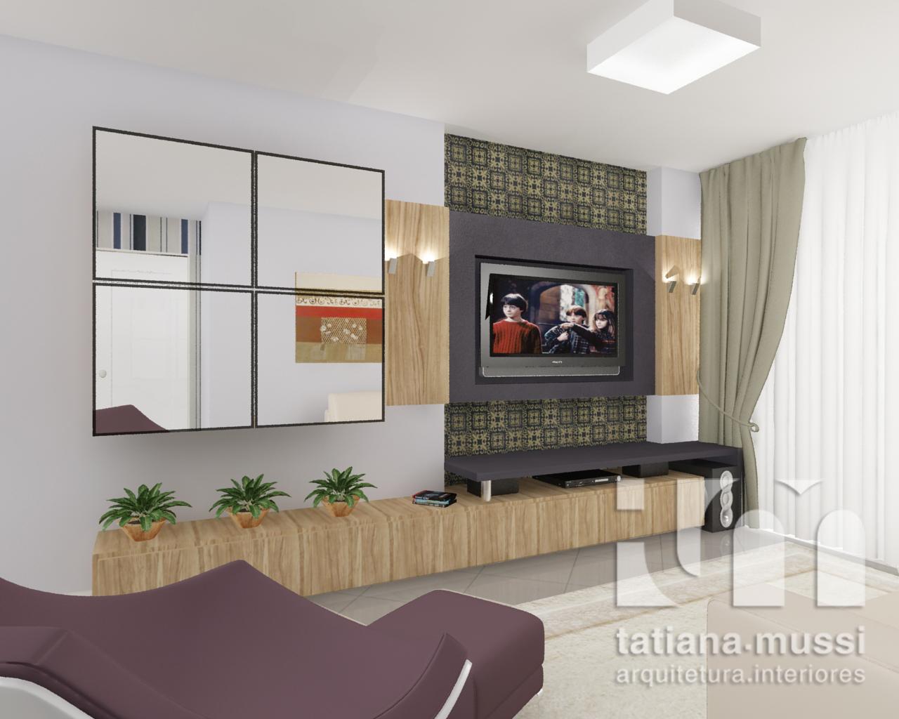 Tatiana Mussi Arquitetura e Interiores: Sala e cozinha integradas #4B5F37 1280 1024