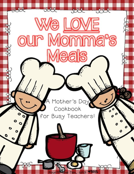 Cookbook Covers Clipart : Fourth and ten mother s day fun for bigger kids