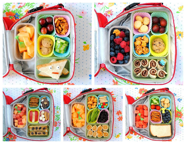 Homemade Bento Boxes - Reusable Lunch Separators from Silicone Cupcake Liners