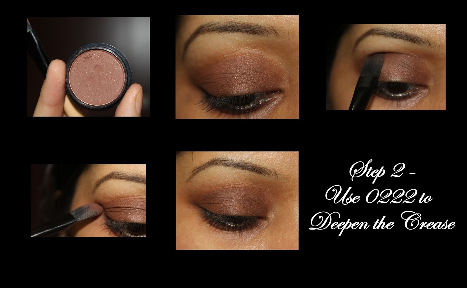 Neutral eye makeup tutorial using miss claire eye shadows next take miss claire eye shadow in 0209 its a rich chocolate metallic brown swipe it all across the eyelid from the inner corner to the entire lid baditri Images