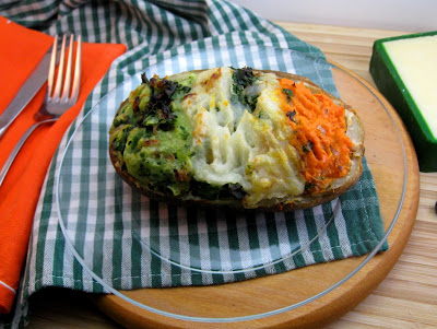Stocked Kitchen: Twice Baked Irish Flag Colcannon Potato