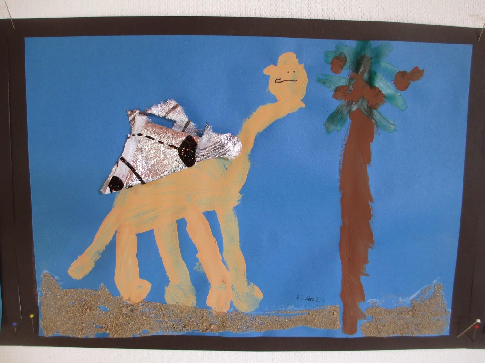 Kamele basteln Orient