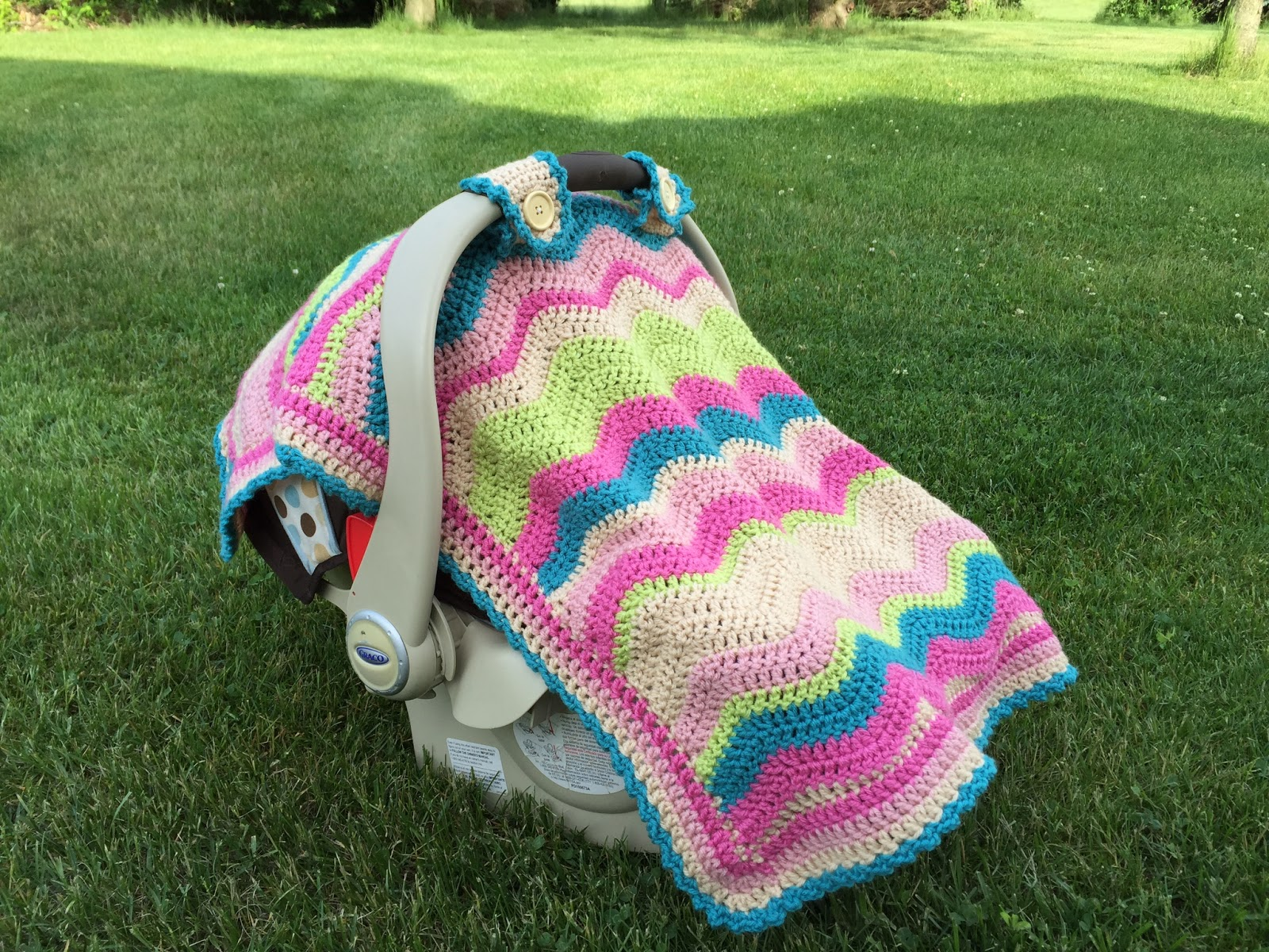 Free Crochet Pattern For Baby Car Seat Cover : Free Crochet Pattern: Emerson Car Seat Cover or Baby Blanket