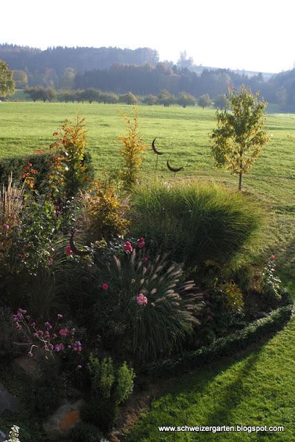 Ein schweizer garten herr meier und 24 frauen in einer for Garten im herbst anlegen