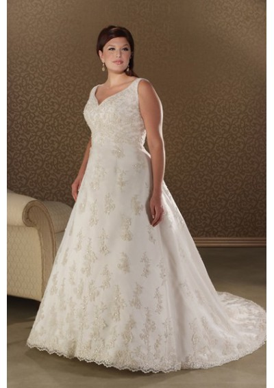 empire wedding dresses plus size