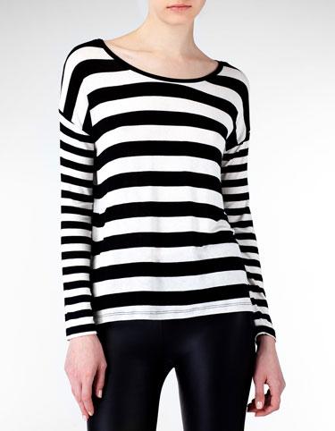 camiseta rayas stradivarius