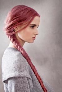 trenza cadena en cabello rosado 2013