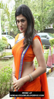 Shradda Das in Orange Low Hip Saree