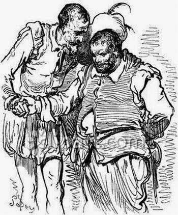 Don Quijote aconseja a Sancho