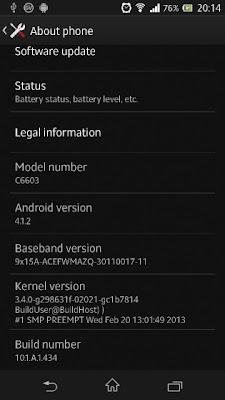 Sony Xperia Z Firmware Update