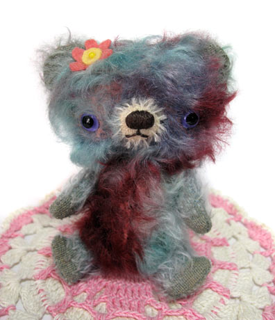 tie dye mohair bear