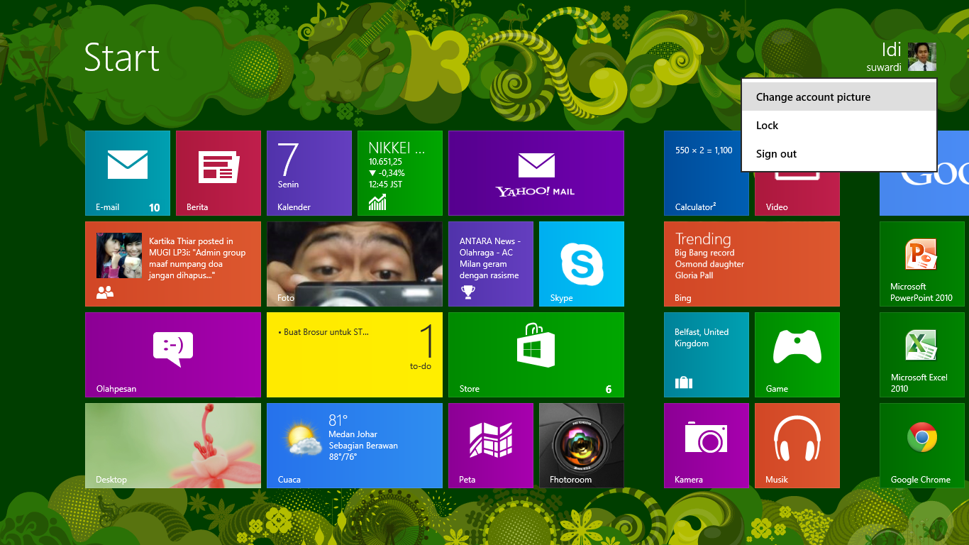 Merubah Gambar Profile Windows 8