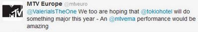 MTV Europe vía Twitter, igual de ansiosoS que las aliens! MTV