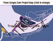Yangtze Three Gorges Dam Map