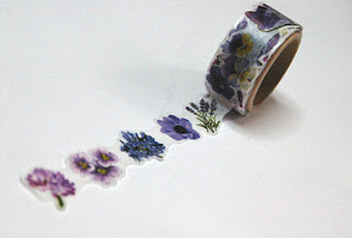 purple flower washi