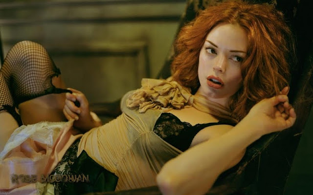 Rose McGowan in lingerie