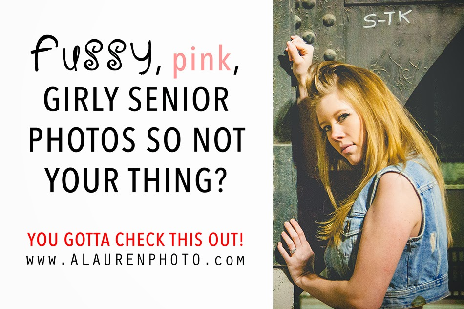 Not your average pink, girly senior photographer, this session rocked!